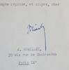 Trois lettres de Jacques Chailley. Jacques Chailley (1910-1999) Musicologue et compositeur français.