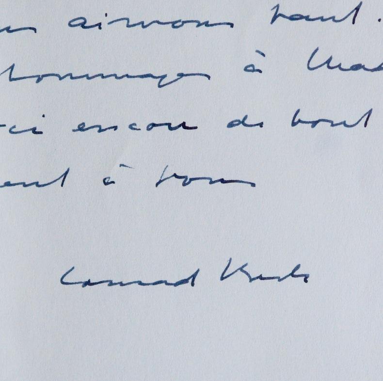 Lettres du compositeur suisse Conrad Arthur Beck. Conrad Beck (1901-1989) Compositeur suisse.
