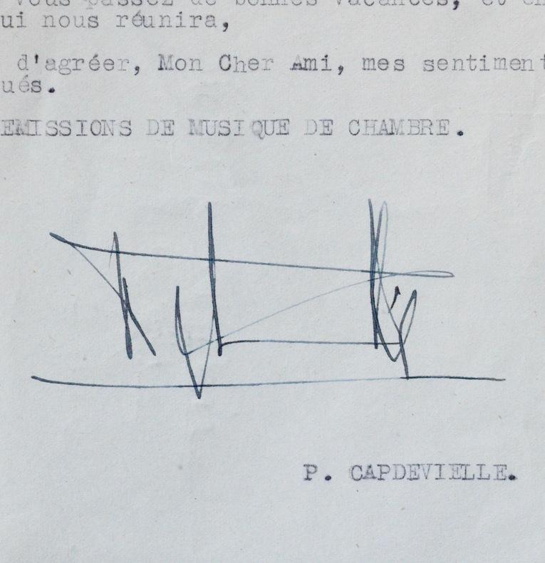 Correspondance Pierre Capdevielle à Henri Martelli. Pierre Capdevielle (1906-1969) Compositeur et chef d'orchestre, prix Blumenthal (1938), il fonde ...