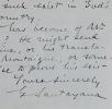 Lettre littéraire de George Santayana. George Santayana (1863-1952) Écrivain et philosophe américano-hispanique de langue anglaise.