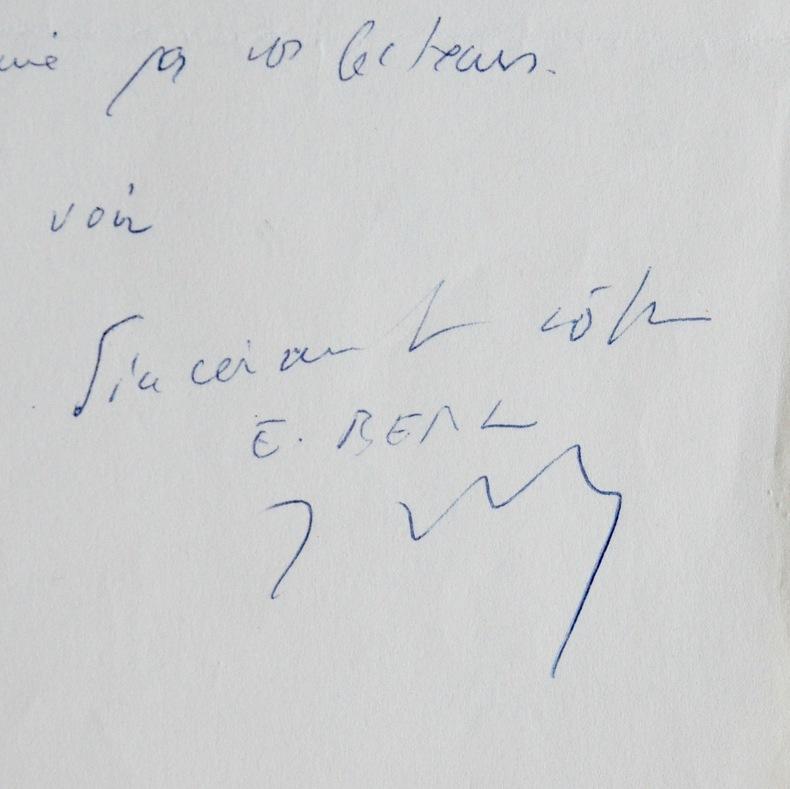 Emmanuel Berl autorise la publication d'un article. Emmanuel Berl (1892-1976) Journaliste, historien et essayiste, Grand prix de la littérature de ...