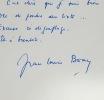 Jean-Louis Bory se déclare incompétent. Jean-Louis Bory (1919-1979) Écrivain, journaliste, critique cinématographique et scénariste français.