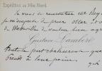 Lettres de l'explorateur Gustave Lambert. Gustave Lambert (1824-1871) Hydrographe et navigateur français, célèbre pour sonexpédition au Pôle Nord.
