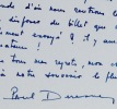 Lettre du ténor Paul Derenne. Paul Derenne (1907-1986) Ténor français.