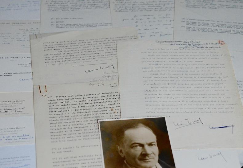 Ensemble de documents de Léon Binet. Léon Binet (1891-1971) Médecin et physiologiste, de l'Académie des sciences.