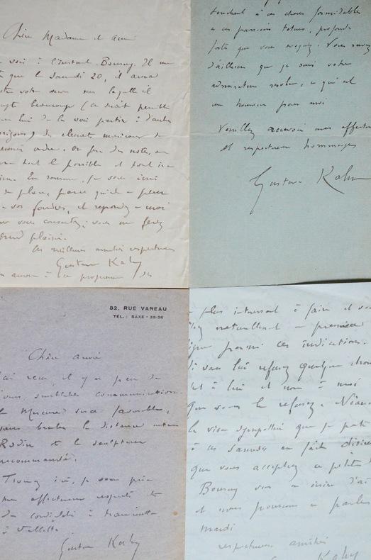 Lettres de Gustave Kahn à Rachilde. Gustave Kahn (1859-1936) Critique et poète symboliste, il est également l'auteur de romans et de pièces de ...