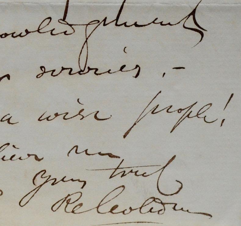 Intéressante lettre de Cobden sur Disraeli et Adderley. Richard Cobden (1804-1865) Industriel britanniqueet un homme d'État radical et libéral.