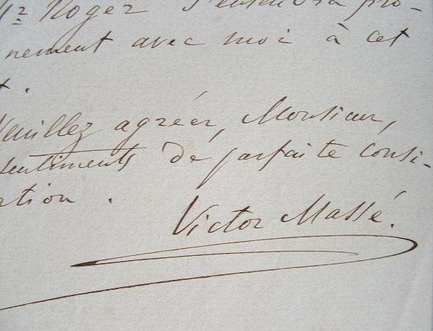 Victor Massé quitte l'agence Pazagallo.. Victor Mass? (1822-1884) Compositeur.