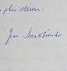 Jean Starobinski, Georges Bataille et Maurice Blanchot. Jean Starobinski (1920-2019) Historien des idées, théoricien de la littérature et médecin ...