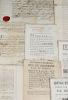 Ensemble de 8 documents béarnais, XVIIe-XVIIIe.