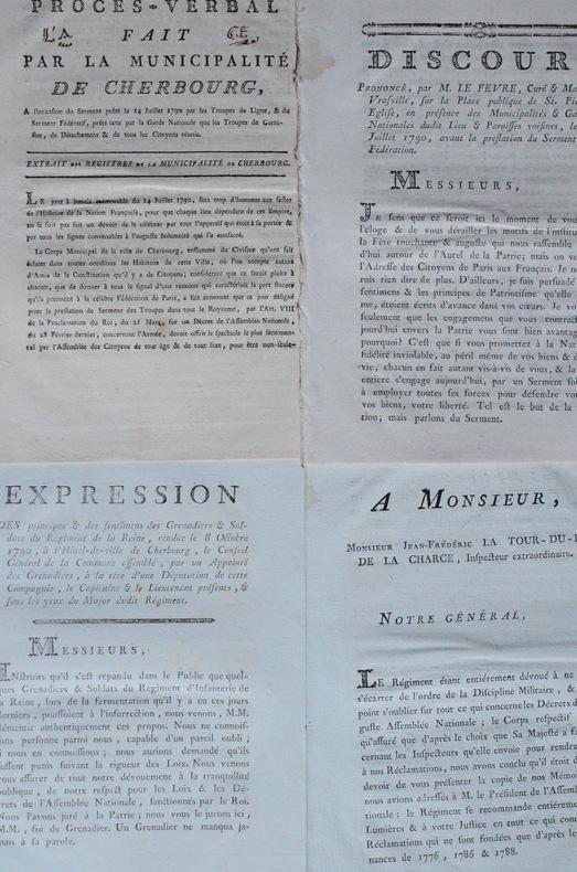Fête de la Fédération : 4 imprimés révolutionnaires.