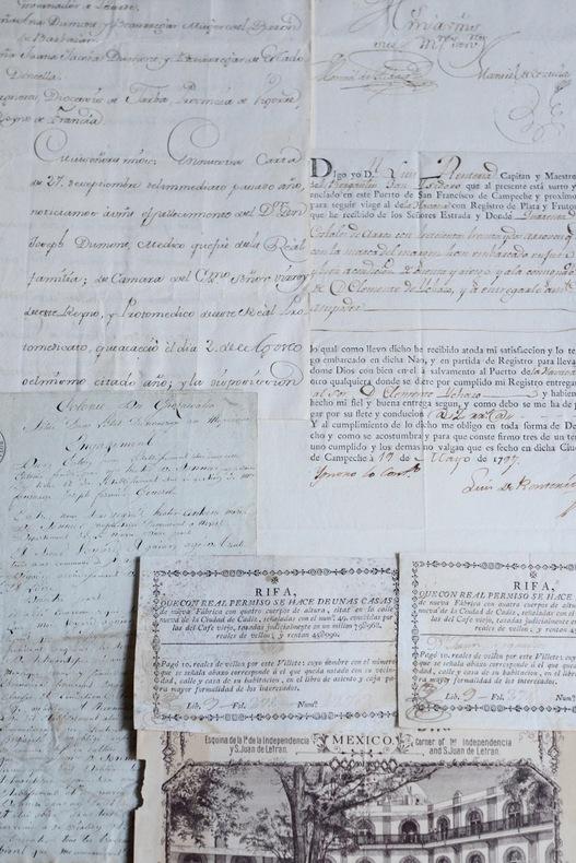 Mexique : 6 documents des XVIIIe et XIXe siècles.