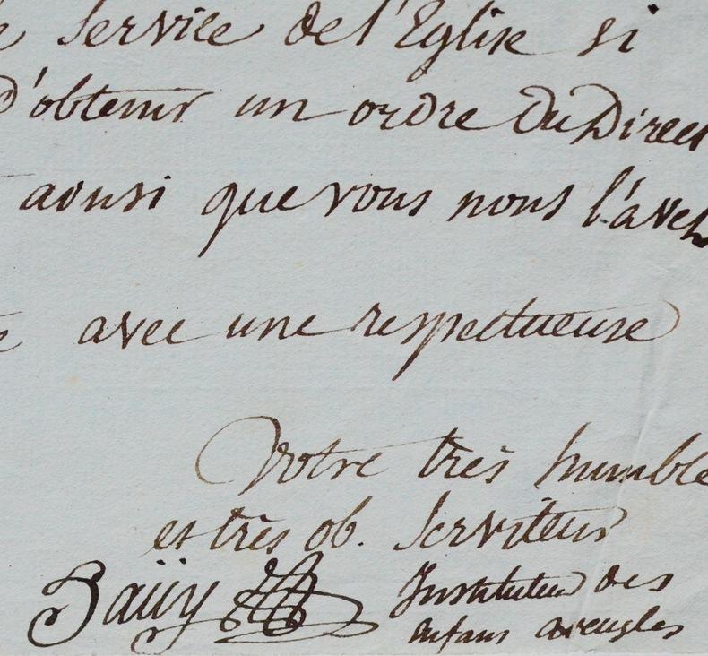 Rarissime lettre de Valentin Haüy sur les enfants aveugles. Valentin Haüy (1745-1822) Fondateur de la première école pour aveugles : l'Institut des ...