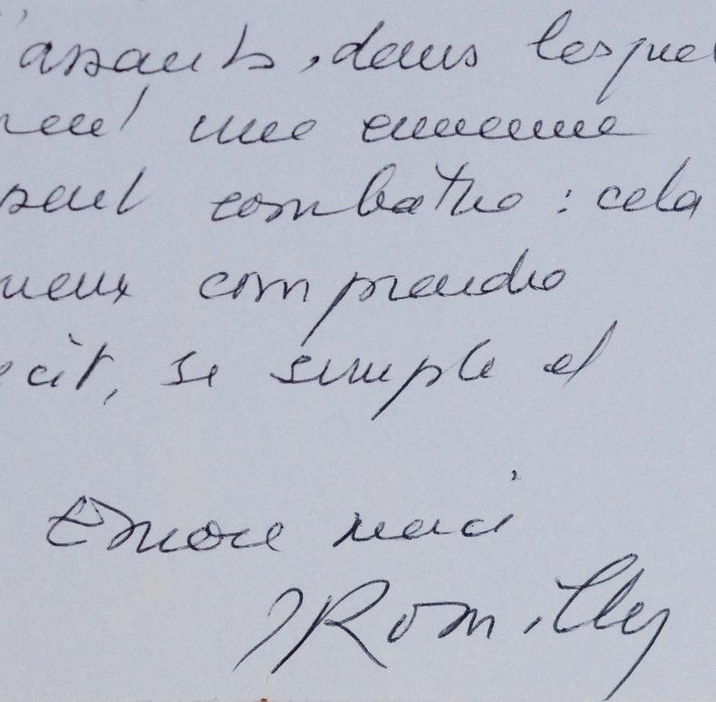 Jacqueline de Romilly à Madeleine Chapsal. Jacqueline Romilly (Worms de) (1913-2010) Philologue et helléniste, membre de l'Académie française, elle ...