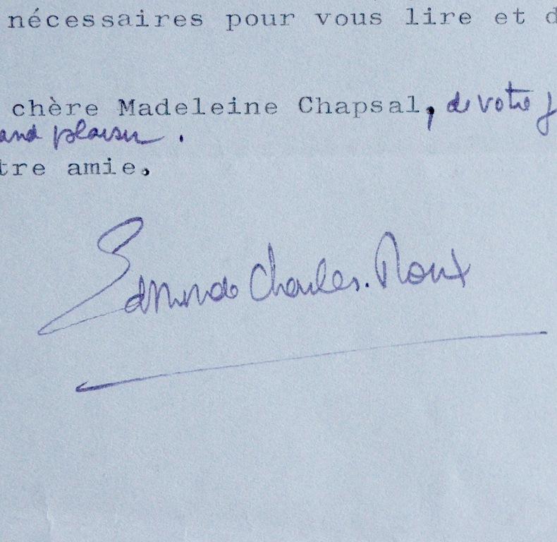 """Edmonde Charles-Roux à Madeleine Chapsal. Edmonde Charles-Roux (1920-2016) Ecrivaine, prix Goncourt (en 1966 pour """"Oublier Palerme""""), présidente de ..."""