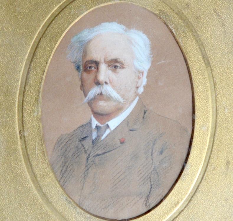 Beau portait original de Gabriel Fauré. Gabriel Faur? (1845-1924) Compositeur.