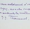 Quatre lettres de Jérôme et Jean Tharaud. Jean Tharaud (1877-1952) Écrivain. Son oeuvre est inséparable de celle de son frère, Jérôme. Ils publient ...