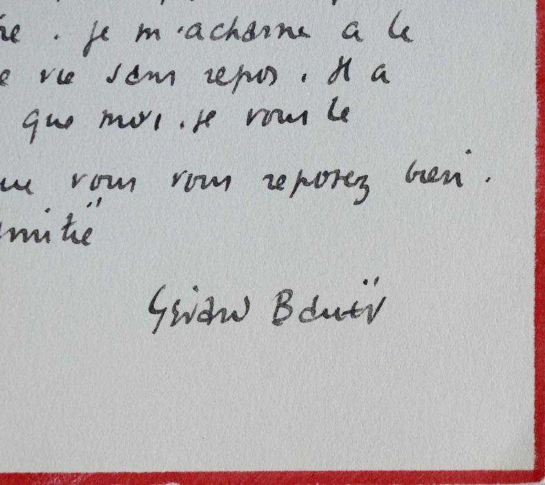 Correspondance de Gérard Bauër à Marcel Thiébaut. Gérard Bauer (1888-1967) Journaliste, mémorialiste et essayiste, il signe des chroniques ...