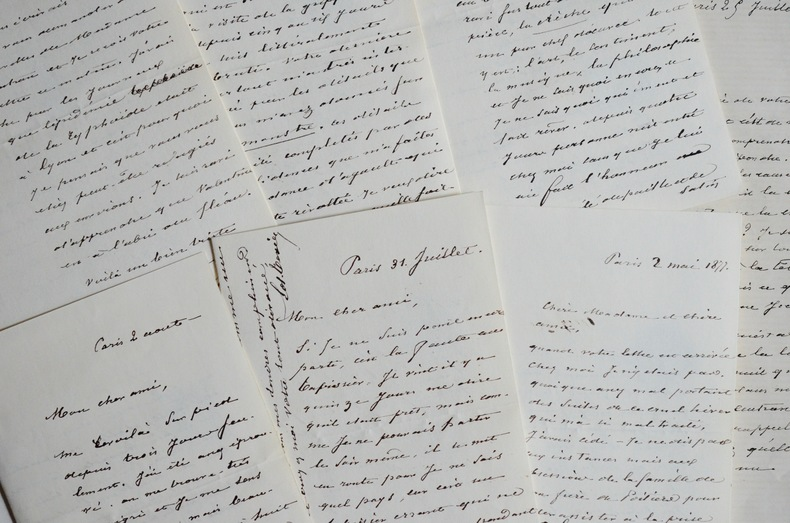 Lettres d'Edmond Texier à Joseph Autran. Edmond Texier (1815-1887) Journaliste, poète et romancierfrançais.
