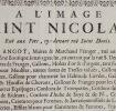 Jean Angot, vend Gallons et passementerie au XVIIIe s..