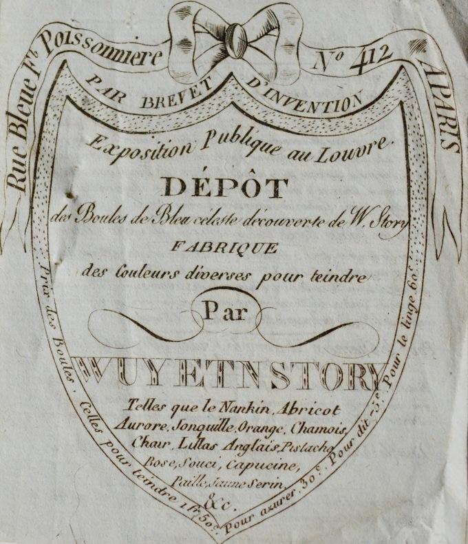 Wuy & Story, marchands de teintures à Paris.