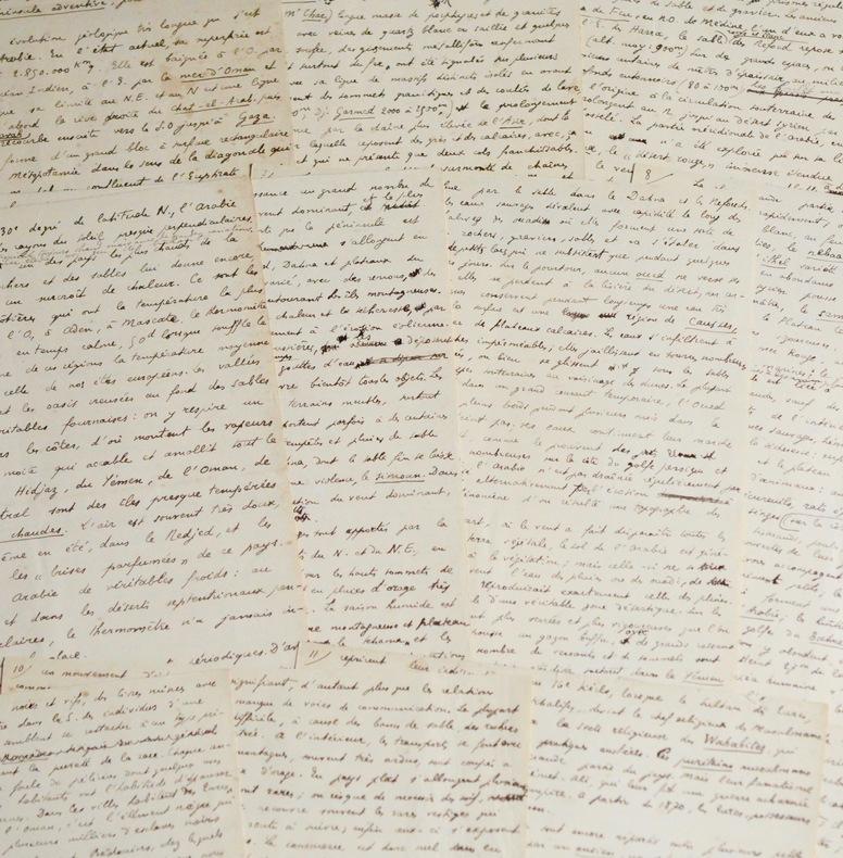"""""""Arabie"""" : manuscrit signé d'Amédée Thalamas. Amédée Thalamas (1867-1953) Fameux professeur d'histoire et géographe français."""