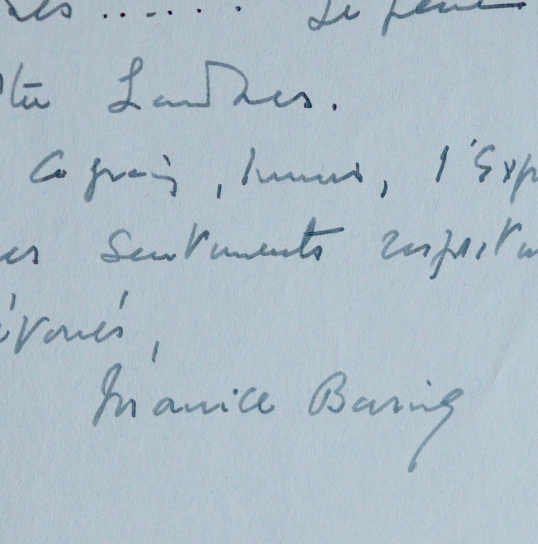 Maurice Baring méconnait le roman contemporain anglais. Maurice Baring (1874-1945) Auteur dramatique, poète, romancier, traducteur et essayiste ...