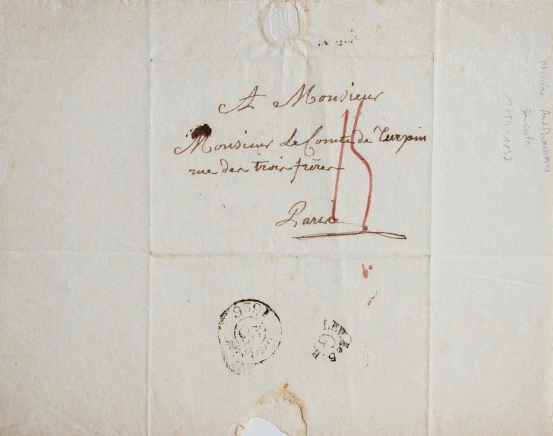 Le peintre Monsiau remercie avec ferveur Turpin de Crissé. Nicolas André Monsiau (1754-1837) Peintre d'histoire et illustrateur, membre de l'Académie ...