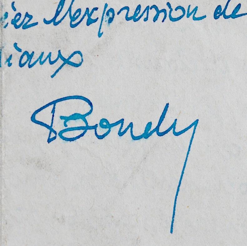 Cinq lettres de François de Bondy. François de Bondy (1875-) Romancier et critique littéraire français.
