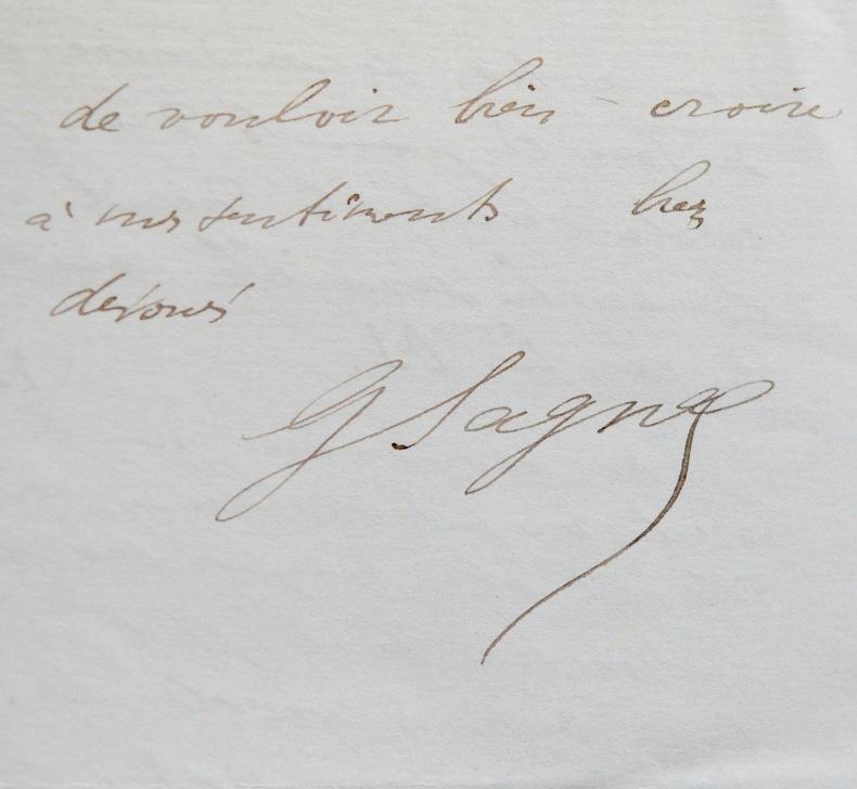 Importante lettre scientifique de Georges Sagnac à Henri Becquerel, sur la radioactivité. Georges Sagnac (1869-1928) Physicien français.Découvreur de ...
