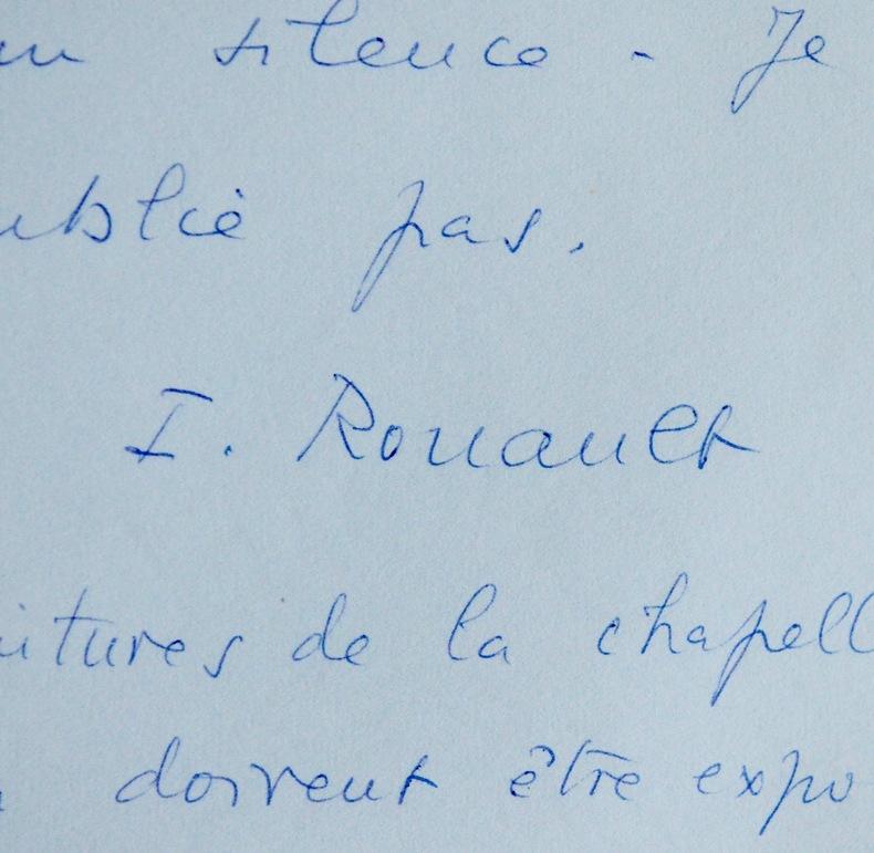 Isabelle Rouault expose les oeuvres de son père. Isabelle Rouault (1910-2004) Fille et spécialiste de l'oeuvre du peintre GeorgesRouault.