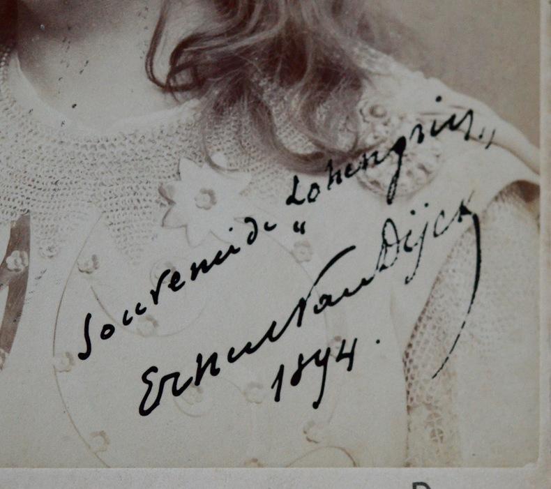 Portrait du ténor Ernest Van Dyck. Ernest Van Dyck (1861-1923) Ténor belge, célèbre pour ses interprétations du répertoire wagnérien.