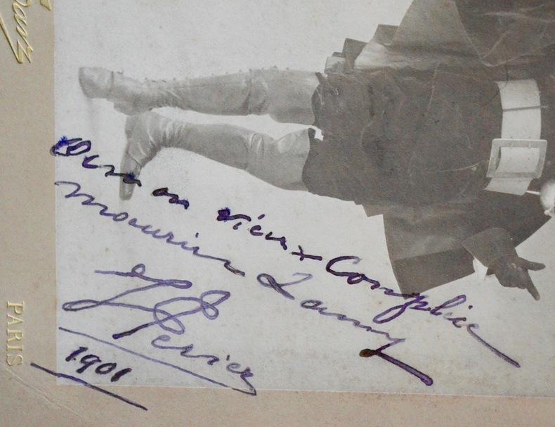 Portrait dédicacé de lacteur et chanteur Jean Périer. Jean Périer (1869-1954) Acteur et barytonfrançais.