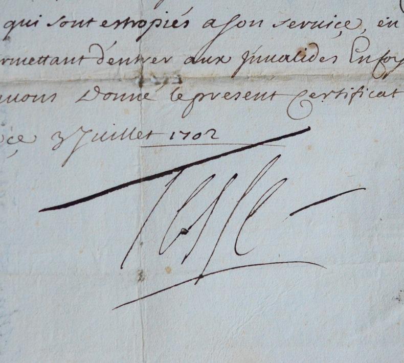 Le maréchal de Tessé dédommage un estropié à Mantoue. René de Tessé (1648-1725) Maréchal de France, général des galères de France, premier écuyer de ...