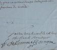 Belle lettre de François de Clermont-Tonnerre. François de Clermont-Tonnerre (1629-1701) Évêque français, pair de France et conseiller d'État.Il ...