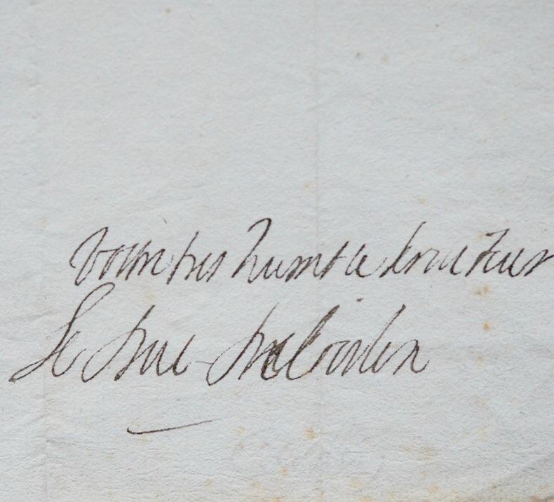 Rare lettre de l'académicien Armand du duc de Coislin. Armand du Cambout, duc de Coislin (1635-1702) Militaire français.Membre de l'Académie française ...