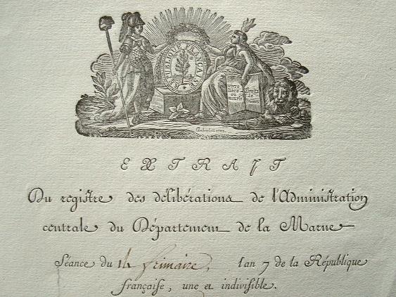 Administration du département de la Marne sous la Révolution..