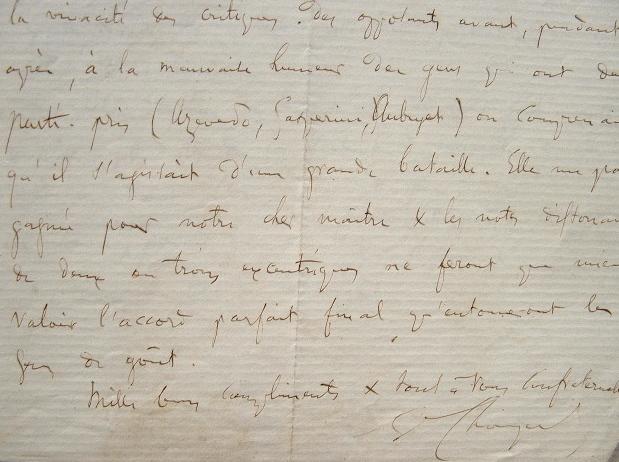 Séance houleuse à la création de Mignon d'Ambroise Thomas.. Ambroise Thomas (1811-1896) Compositeur.