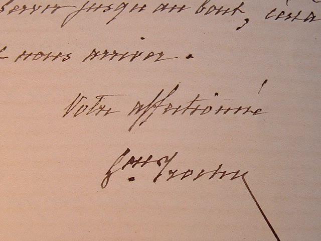 Belle lettre du général Trochu.. Louis Jules Trochu (1815-1896) Général et homme politique, gouverneur de Paris, il fut président du gouvernement de ...