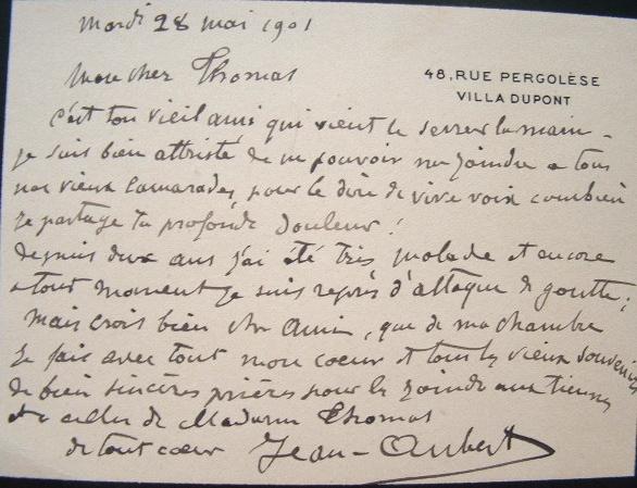 Le peintre Jean Aubert compatissant.. Jean Ernest Aubert (1824-1906) Peintre, graveur et lithographe.