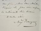 Le sculpteur Maximilien Bourgeois écrit à son maître.. Louis Maximilien Bourgeois (1839-1901) Sculpteur.