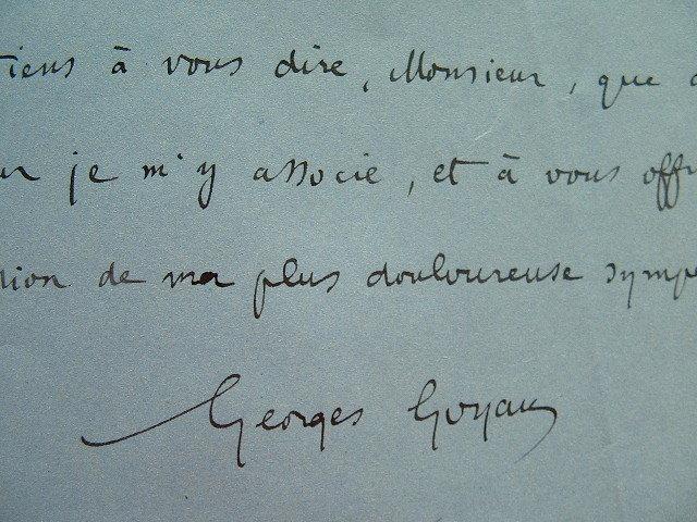 L'historien Georges Goyau rend hommage au président Loubet.. Georges Goyau (1869-1939) Historien, essayiste, académicien (1922). Gendre du président ...