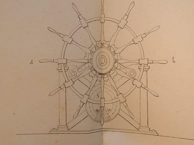 4 plans divers de construction navale.. Peronneau (0-0) Ingénieur de la Marine, à Marseille, de 1825 à 1850 environ.