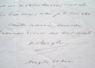 Victor de Broglie met son Discours à disposition.. Victor Broglie (de) (1785-1870) Homme politique. Académicien (1855).