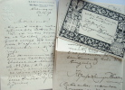 Echanges d'ex-libris et d'autographes entre collectionneurs.. Karl Emich Graf zu Leiningen-Westerburg (1856-1906) le plus grand collectionneur ...