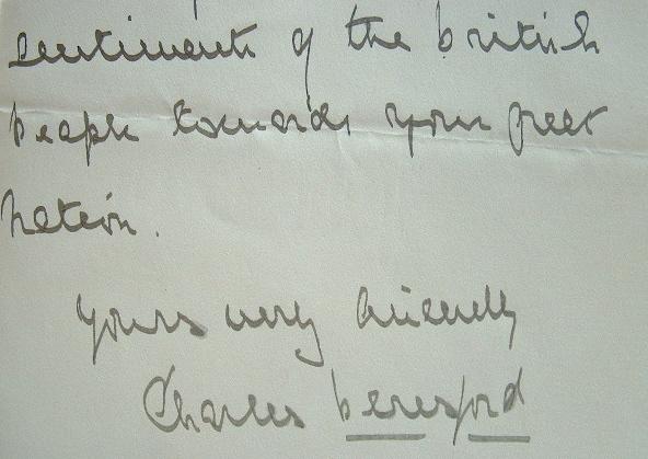 L'entente cordiale selon Lord Beresford.. Charles William de La Poër Beresford (lord) (1846-1919) amiral et homme d'état anglais.