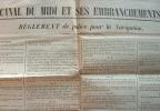 Règlement de navigation sur le canal du Midi..