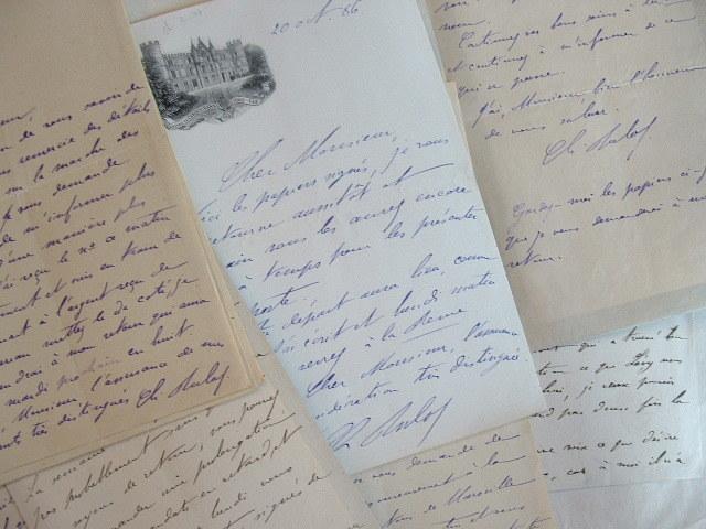 Revue des Deux-Mondes. Lettres de François et Charles Buloz.. François Buloz (1803-1877) Publiciste, figure centrale du mouvement romantique, ...