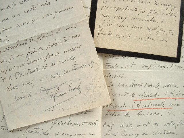 Le nouveau consul de France s'installe à Guatemala.. Henri Eugène Aymé-Martin (1869-0) Diplomate, consul de France à Manille et Mexico, chargé ...