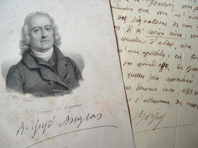 Boissy d'Anglas se méfie des apostilles.. François Antoine Boissy d'Anglas (1756-1826) Conventionnel, membre du Comité de Salut Public, président du ...